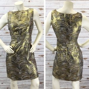 Tory Burch Silk Metallic Cocktail Dress Sz 6 ::